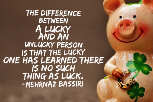 inspirational quote about luck